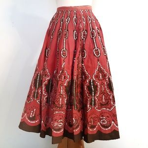 Sweet by Miss Me Pink Sequin Full Skirt as is